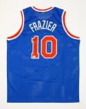 Walt Frazier Autographed New York Blue Jersey W/ HOF- JSA Witnessed Auth