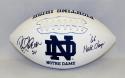 Rocky Bleier Autographed Notre Dame Logo Football W Natl Champs- JSA W Auth