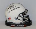 Paul Posluszny Autographed Penn State Nittany Lions Mini Helmet W/ Butkus Award- JSA Auth