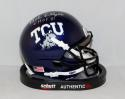 Bob Lilly Autographed TCU Horned Frogs Mini Helmet W/ CHOF- JSA W Authenticated