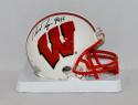 Ron Dayne Autographed Wisconsin Badgers Mini Helmet W/ Heisman- JSA W Auth