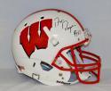 Ron Dayne Autographed Wisconsin Badgers F/S Helmet W/ HT- JSA W Auth