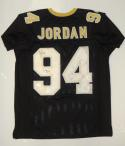 Cameron Jordan Autographed Black Pro Style Jersey W/ Who Dat- JSA W Authenticated