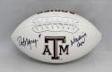 Dat Nguyen Autographed Texas A&M Aggies Logo Football W/ Wrecking Crew- JSA W Auth