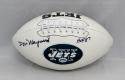 Don Maynard Autographed New York Jets Logo Football W/ HOF- JSA W Authenticated