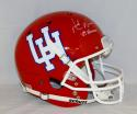 Andre Ware Autographed U of H Cougars Full Size Helmet W/ Heisman- JSA W Auth
