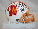 Warren Sapp Autographed Tampa Bay Buccaneers White Mini Helmet- JSA W Auth