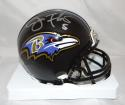 Joe Flacco Autographed Baltimore Ravens Mini Helmet- PSA/DNA Authenticated