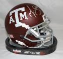 Martellus Bennett Autographed Texas A&M Aggies Maroon Mini Helmet- JSA W Auth