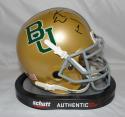 Kendall Wright Autographed Baylor Bears Gold Schutt Mini Helmet- JSA W Auth