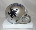 Tony Dorsett Autographed *Blue Dallas Cowboys Mini Helmet- JSA Witnessed Auth