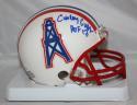 Curley Culp Autographed Houston Oilers Mini Helmet W/ HOF- JSA Witnessed Auth