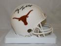 Major Applewhite Autographed Texas Longhorns Mini Helmet- JSA Witnessed Auth