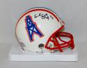 Earl Campbell Autographed *Blk Houston Oilers Mini Helmet W/ HOF- JSA W Auth