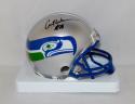Curt Warner Autographed Seattle Seahawks Mini Helmet- JSA Witnessed Auth
