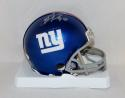 Jason Pierre Paul Autographed New York Giants Mini Helmet- JSA Witnessed Auth