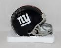Y.A. Tittle Autographed *Silver New York Giants Mini Helmet With HOF- JSA W Auth