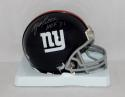 Y.A. Tittle Autographed *Silver New York Giants Mini Helmet W/ HOF- TriStar Auth