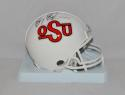 Barry Sanders Autographed OSU Cowboys Riddell TB Mini Helmet- JSA W Auth