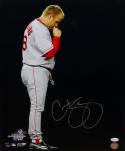Curt Schilling Signed Boston Red Sox 16x20 Kissing Necklace Photo- JSA W Auth