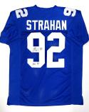 Michael Strahan Autographed Blue Pro Style Jersey W/ HOF- JSA W Authenticated
