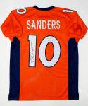Emmanuel Sanders Autographed Orange Pro Style Jersey W/ SB 50 Champs- JSA W Auth