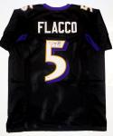 Joe Flacco Autographed Black Pro Style Jersey- PSA/DNA Authenticated