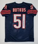 Dick Butkus Autographed Blue Pro Style Jersey- JSA Witnessed Authenticated