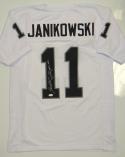 Sebastian Janikowski Autographed White Pro Style Jersey- JSA W Authenticated