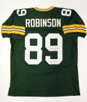 Dave Robinson Autographed Green Pro Style Jersey W/ HOF- JSA Witnessed Auth