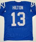 T. Y. Hilton Autographed Blue Pro Style Jersey- JSA Authenticated