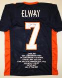 John Elway Autographed Blue Pro Style STAT Jersey- JSA Witnessed Auth