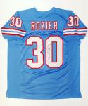 Mike Rozier Autographed Blue Pro Style Jersey- JSA Witnessed Authenticated
