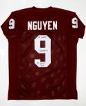 Dat Nguyen Autographed Maroon College Style Jersey W/ Awards- JSA W Auth