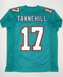 Ryan Tannehill Autographed Teal Pro Style Jersey- JSA Witnessed Authenticated
