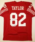 John Taylor Autographed Red Pro Style Jersey W/ SB Champs- JSA Authenticated