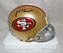 Joe Montana Autographed San Francisco 49ers Mini Helmet- JSA Witnessed Auth