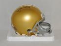 Joe Montana Autographed Notre Dame Riddell Mini Helmet- JSA Witnessed Auth