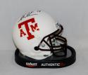 Mike Evans Autographed Texas A&M Aggies White w/ Red Mini Helmet- JSA W Auth