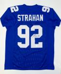 Michael Strahan Autographed Blue Pro Style Jersey- JSA W Authenticated