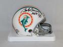 Bob Griese Autographed Miami Dolphins Mini Helmet W/ HOF- JSA W Auth