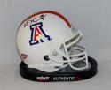 Ka'Deem Carey Autographed Arizona Wildcats White Mini Helmet- JSA Witnessed Auth