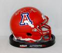 Ka'Deem Carey Autographed Arizona Wildcats Red Mini Helmet- JSA Witnessed Auth