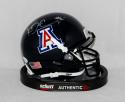 Ka'Deem Carey Autographed Arizona Wildcats Blue Mini Helmet- JSA Witnessed Auth