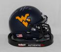 Kevin White Autographed West Virginia Mountaineers Blue Mini Helmet- JSA W Auth