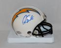 Dan Fouts Autographed San Diego Chargers White Mini Helmet- JSA Witnessed Auth