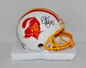Derrick Brooks HOF Autographed Tampa Bay Buccaneers White Mini Helmet- JSA W Auth