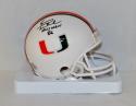 Vinny Testaverde Autographed Miami Hurricanes Mini Helmet W/ Heisman- JSA W Auth