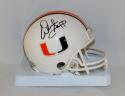 Warren Sapp Autographed Miami Hurricanes Mini Helmet- JSA Witnessed Auth
