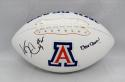Ka'Deem Carey Autographed Arizona Wildcats Logo Football W/ Bear Down- JSA W Auth